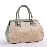 2013 autumn brief vintage bag all-match sewing thread ostrich grain handbag women's handbag