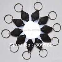 50pcs Mini white light 22000mcd  LED Flashlight Keychain Torch Gift Toys+  Free shipping