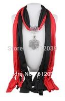 Hot 1pc Retail/Wholesale fashion woman tassels Cotton pashmina wrap scarf Alloy beaded pendant necklace shawl scarves jewelry