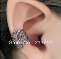 YWJR1180 Free Shipping Clip Earrings Punk Metal U shape Ear Cuff Single No piece Earrings Vintage Clips Earring