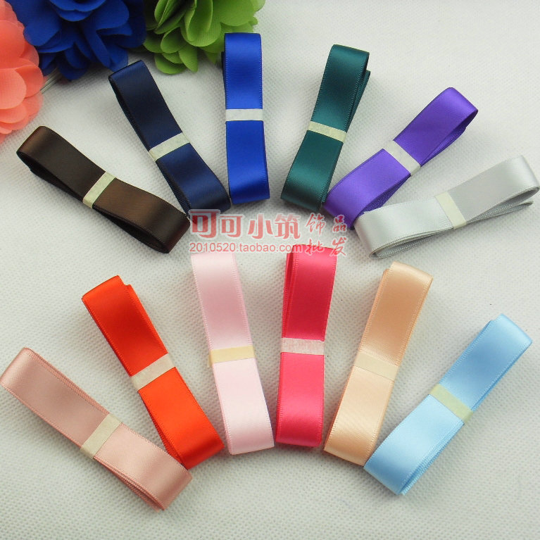"""Free shipping! 3/4""""(16mm) double face Satin Ribbon/webbing decoration/accesories/crafts materials, 21Colors*1Y, DIY Accessories.(China (Mainland))"""