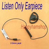 Listen only Earhook Earpiece /Headset for Radio Walkie talkie 3.5mm plug