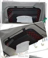 Car Auto Vehicle Sunshade Sun Visor Tissue Box Holder Paper Napkin Clip CD DVD Case Bag Pack Organizer Pocket Storage