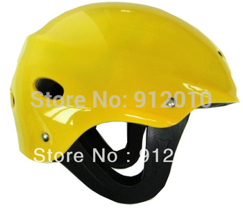 Free Size Watersports Safe Adjustable Helmet Rafting Rowing Canoeing Kayaking Yellow Helmet