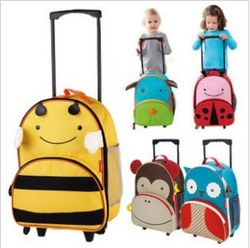 2013 hot! Children trolley luggage / suitcase / finishing boxes / children's school bags / trolley bags(China (Mainland))