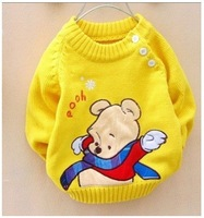 New Free shipping 3pcs/ lot baby boys&girls winnie sweaters/children clothes/kids cute cantoon bear pullovers/children's sweater