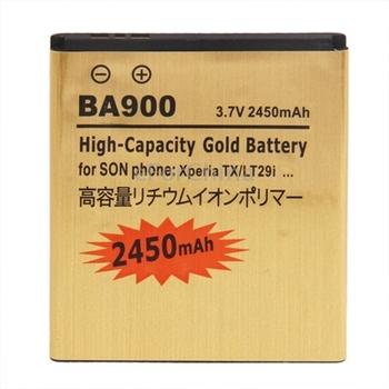 2450mAh BA900 High Capacity Gold  Battery For Sony Xperia TX / LT29i