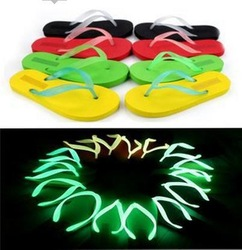 Summer Glow Wholesale Ladies Sandals, Slippers, Luminous Slippers, Flip-Flops, Very Comfortable, Mixed Color, Free Shipping(China (Mainland))