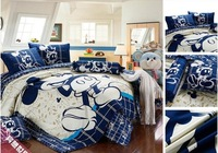 discount ! king size bedding set mickey mouse pattern, twin/full/queen/king size for choose, EMS Free shipping