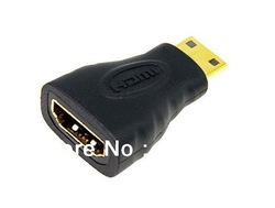 Mini HDMI (Type C) Male to HDMI (Type A) Female Adapter Connector Free Shipping(China (Mainland))
