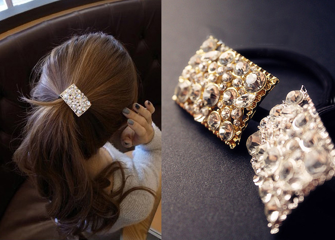 New Arrival Rhinestone Hair Accessaries Gold Plated Crystal Hairband Fashion Korean Jewelry SF072(China (Mainland))