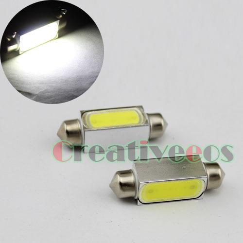 2Pcs 36mm High Power 3W SMD LED Festoon Dome Lisense Plate Light Bulb Lamp (Show White Light)(China (Mainland))