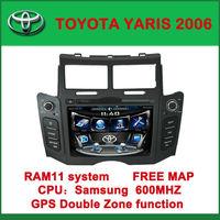 Indash Car Radio DVD Player GPS Navigation For Toyota Yaris Hatchback 2006-2011