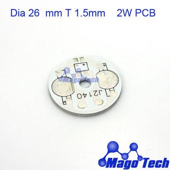 DHL/FEDEX/EMS Free shipping-Dia 26mm T 1.5mm  for power 2W aluminum circular  plate BASE  LED heatsink  board  PCB  Circuit