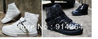 Men's Flats Breathable Ankle Boots Lace Up High Rise Sneakers Casual Shoes Sport / free shipping +tracking number