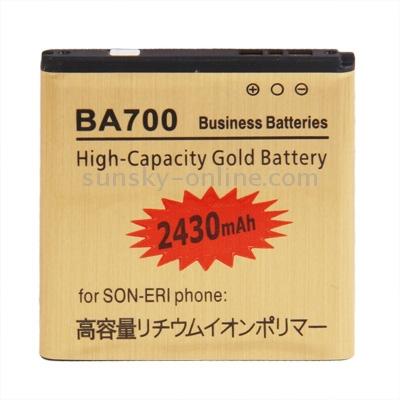 2430mAh BA700 High Capacity Gold Business Battery for Sony Ericsson Xperia Neo MT15i / Xperia pro MK16i
