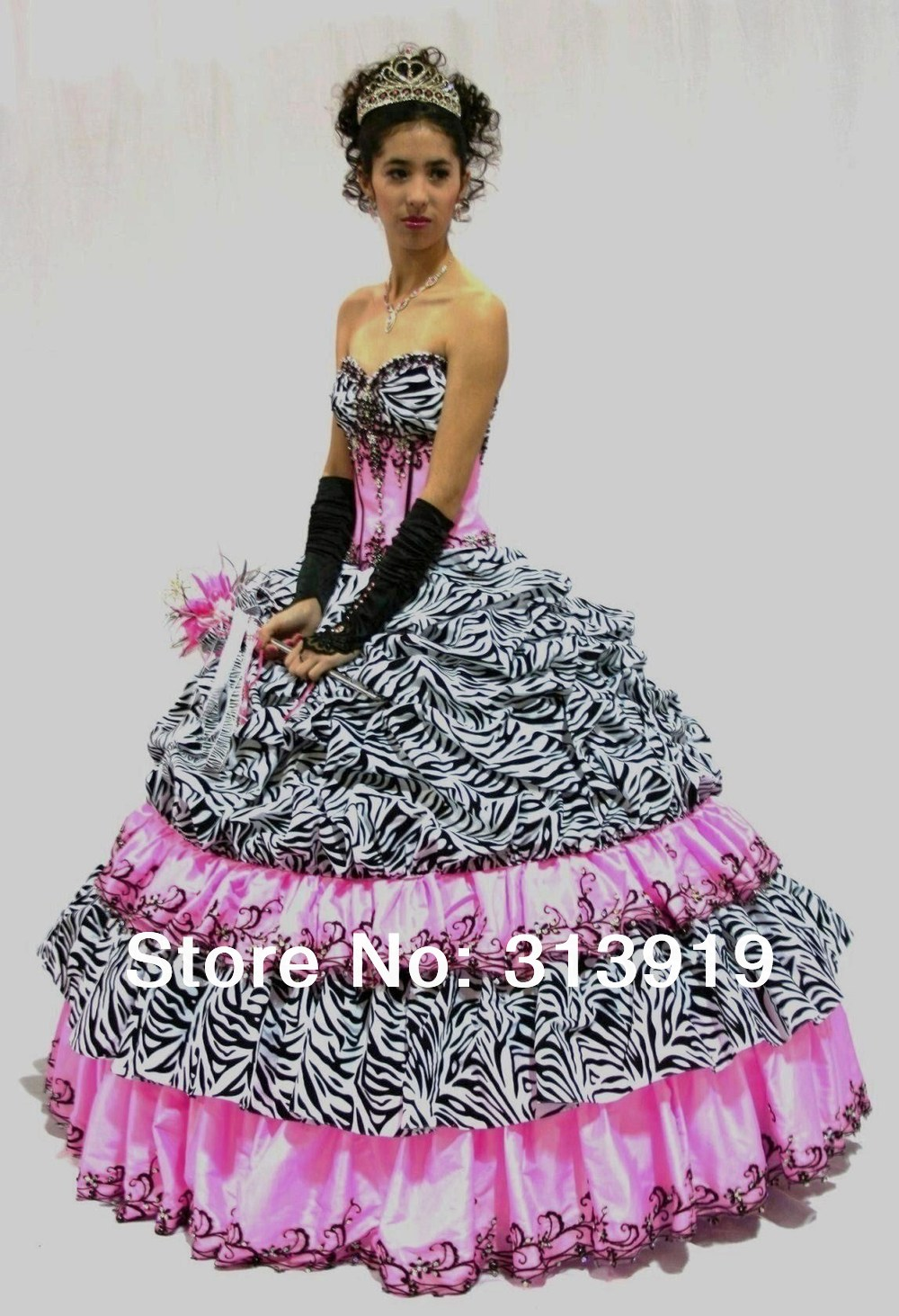 Zebra Striped Prom Dresses 33