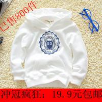 Children's clothing baby sweatshirt male female child T-shirt long-sleeve shirt baby white pullover sweatshirt spring and autumn