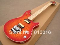 EVH Wolfgang Edward Van Halen guitar cherry burst color finished with Floyd Rose tremolo and quilt flame+ Free shipping!