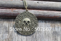 Vintage Style Pirates of the Caribbean Coin Pendant Necklace-Cursed Pirate Doubloon Necklace