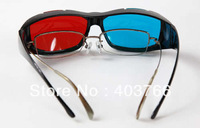 Freeshipping  12PCS/lot Red Blue Cyan NVIDIA 3D VISION Myopia General Glasses