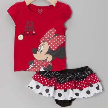 2013 Summer Minnie Design Cartoon Clothing Set Baby T shirt + Short Trousers Fashion Wear 3 sets a lot
