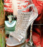 The 2014 diamond high-heeled sandals personality traits fashion shoes