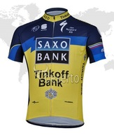 Free shipping 2013 SAXO Tinkoff Bank yellow blue cycling clothing of short/Cycling Clothing/Cycling Gear