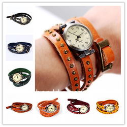 Free shipping luxury ladies vintage wristwatches for women gift fashion clock designer leather quartz wrist watch 5317(China (Mainland))
