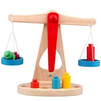 Factory direct 1pc Baby Children's Teaching Educational Toys Wooden Balance Toy Libra Pendulum Balance Game Toys Free Shipping