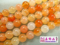 Diy handmade accessories beaded necklace bracelet material 6-16mm natural red agate bead