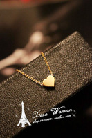 Ladies korean ' vivi solid chain of love gold short necklace