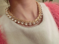 Gold short necklace