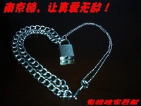 Punk sid lock nana lock nanjing lock key single face r nanjing lock necklace