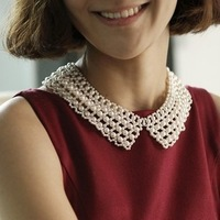 Accessories vivi vintage pearl handmade beaded shirt false collar necklace