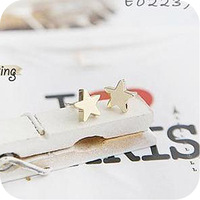 free shipping 2013 women's cute star Stud Earrings