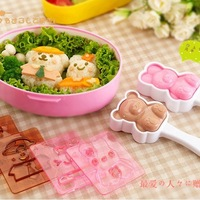 Dress up doll rice cake mould set lunch box diy sushi device tools bear