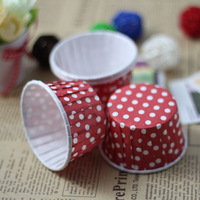 Heat resistant cup roll-up hem horse cup cake mould red dot 10