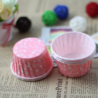 Heat resistant cup roll-up hem horse cup cake mould pink 10
