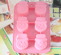 Snowman head silica gel cake mold pudding mold soap silica gel mould
