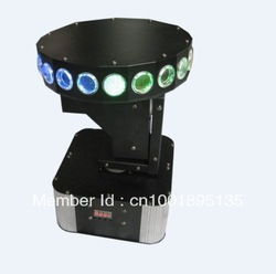 1pcs/lot Unique designed free shipping UFO led moving head light with 8pcs 3W led lamp,90V-240V powerful spot moving led heads(China (Mainland))