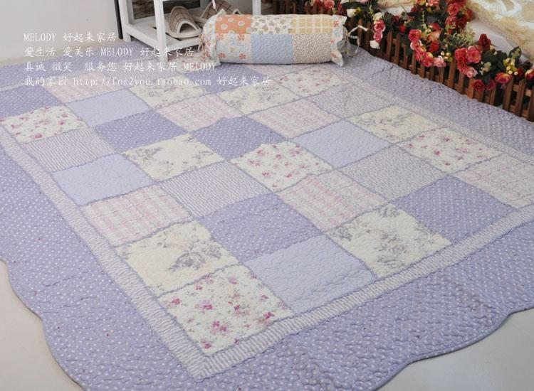 100% cotton quilting patchwork baby crawling mat table mats bed pad cloth big mats slip-resistant cushion 160 210(China (Mainland))