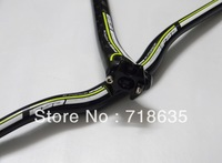 NEW Green carbon fibre MTB  Bicycle bike riser  handlebar  Bike seatpost free shipping