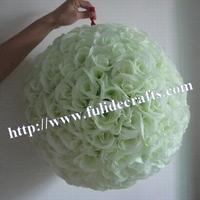 off-white rose ball wedding plastic inner decoration wedding flower ball-50cm