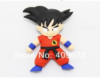Wholesale! Cartoon model of goku dragon ball USB 2.0 enough memory stick 16G 32G 64G 128G can exchange for other models