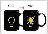 Free shipping 10oz Thermal Light Bulb Mug Iskander Mukhamadeyev The Heat Change Ceramic Mug 300ml