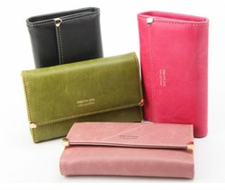 2012 women&#39;s wallet women&#39;s wallet style scrub female purse perfect solid color(China (Mainland))