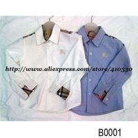 New Fashion Boy's Long Sleeve Shirt/Blouse/Baby Boy's Cotton Top Tanks/Children's Summer Shirts/Blouses & Shirts