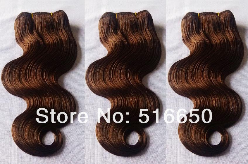 OO 5A #4 Dark Brown Peruvian Hair 3Pcs/Lot Mix Length Body Wave Hair Extension Peruvian Virgin Human Weave Hair Free Shipping(China (Mainland))
