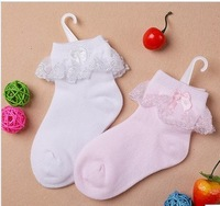 2013 new Cotton  socks with lace bow,children's sock suit for 2-12 years old,children sock